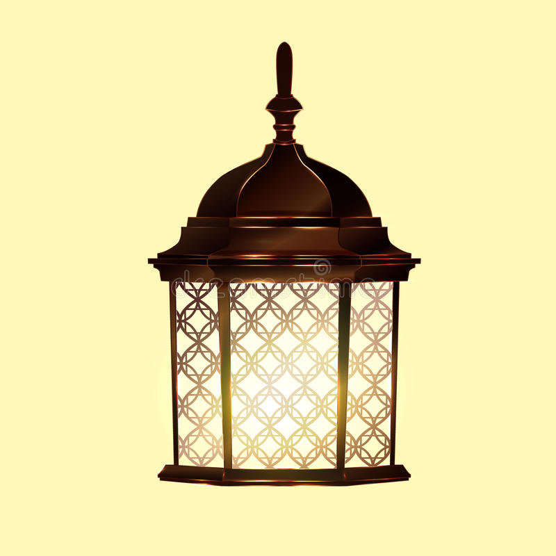Retro uitstekende lamp royalty-vrije illustratie