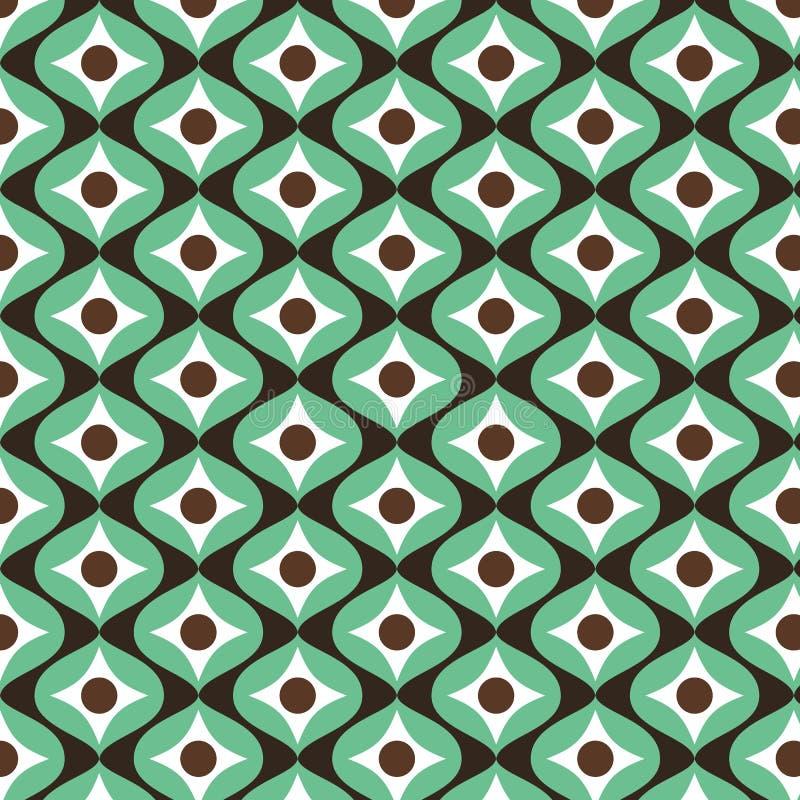 Retro uitstekende patroonachtergrond Naadloos patroon Druktextuur Harmonische kleurencombinaties Stoffenontwerp royalty-vrije illustratie