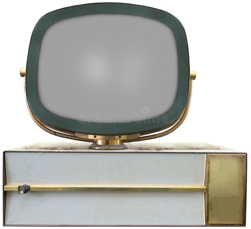 Retro Uitstekende TV, Geïsoleerde Televisie royalty-vrije stock afbeeldingen