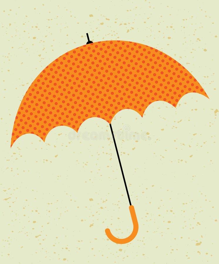 Retro umbrella. illustration stock illustration