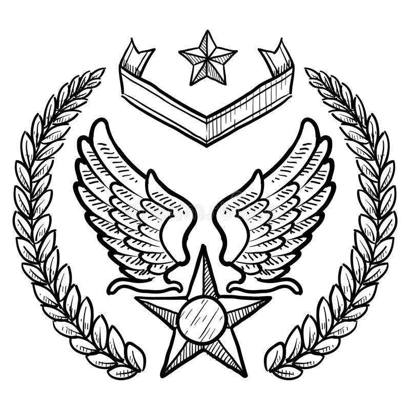 air force insignia coloring pages - photo#2