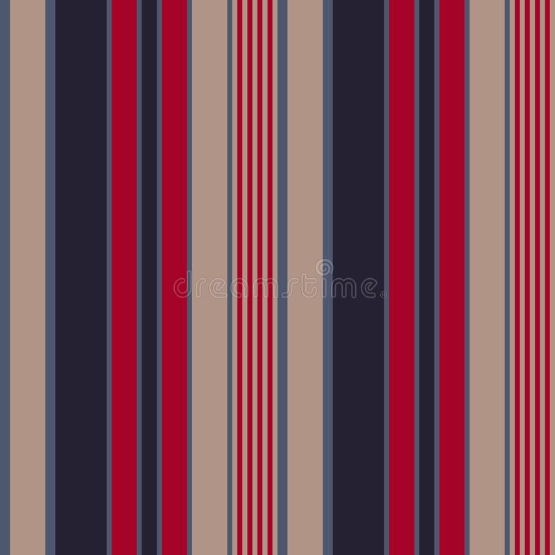 Retro usa Color fashion style seamless stripes pattern. Abstract vector background stock illustration
