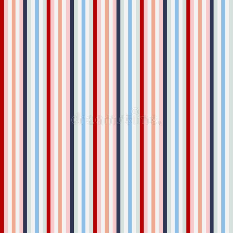Retro usa Color style seamless stripes pattern. Abstract vector stock photography