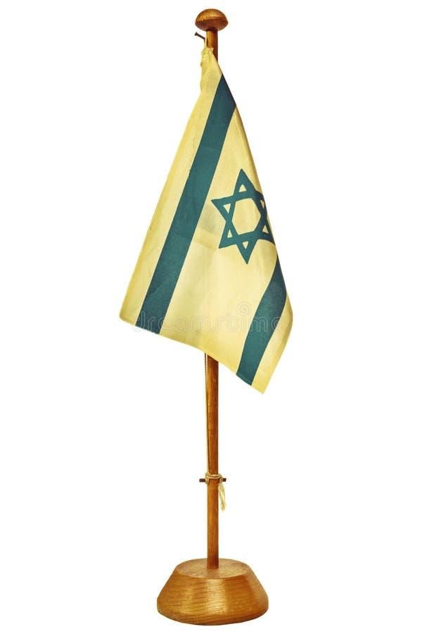 Retro utformad bild av en liten Israel flagga royaltyfri bild