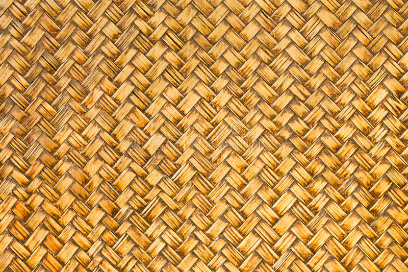 Retro vävd wood modell för bambu arkivbilder