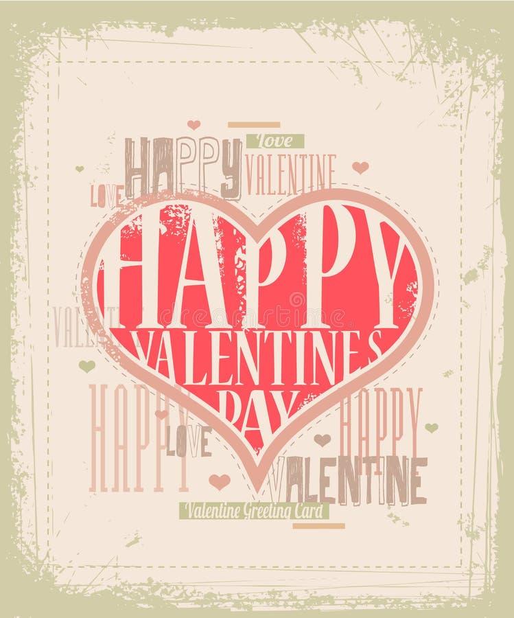 Free Retro Valentine Card Design Stock Photo - 28071530