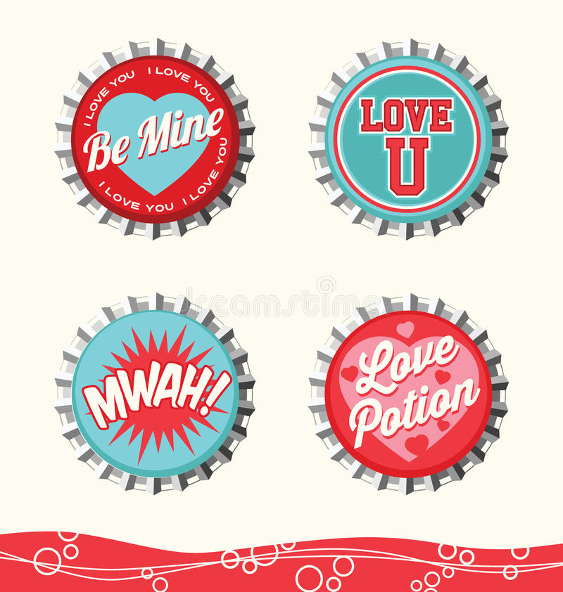 Free Retro Valentine Designs Stock Image - 63858041