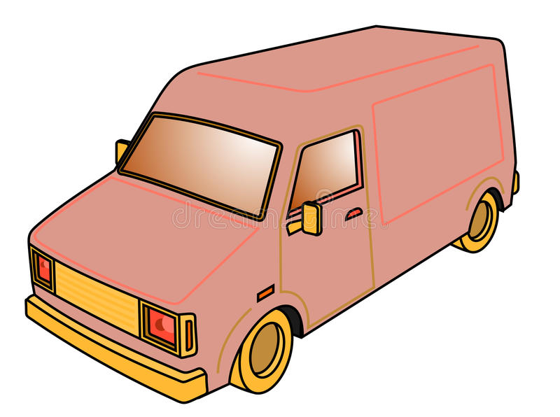 Download Retro van stock vector. Illustration of vehicle, drawing - 24010051