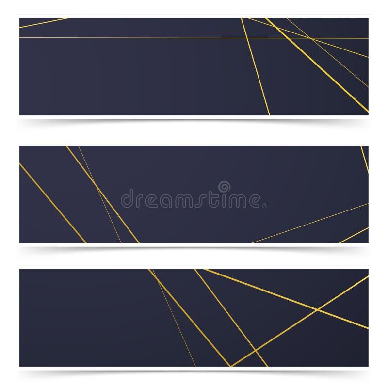 Retro van het het kaderpatroon van het stijlart deco de adreskaartjesbanners vector illustratie