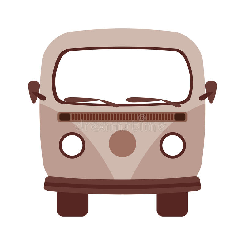 retro van isolated icon design royalty free illustration