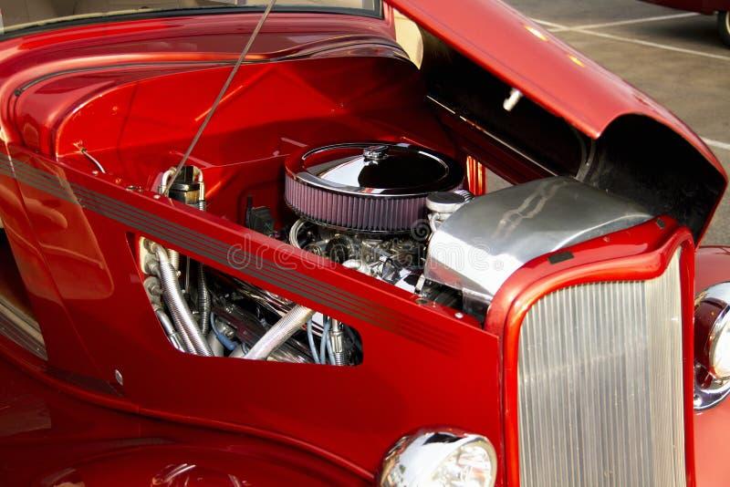 Retro varma Rod Automobile Engine arkivfoto