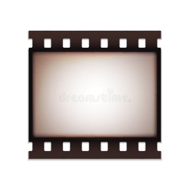 Retro vecchia striscia di pellicola d'annata realistica in bianco illustrazione vettoriale