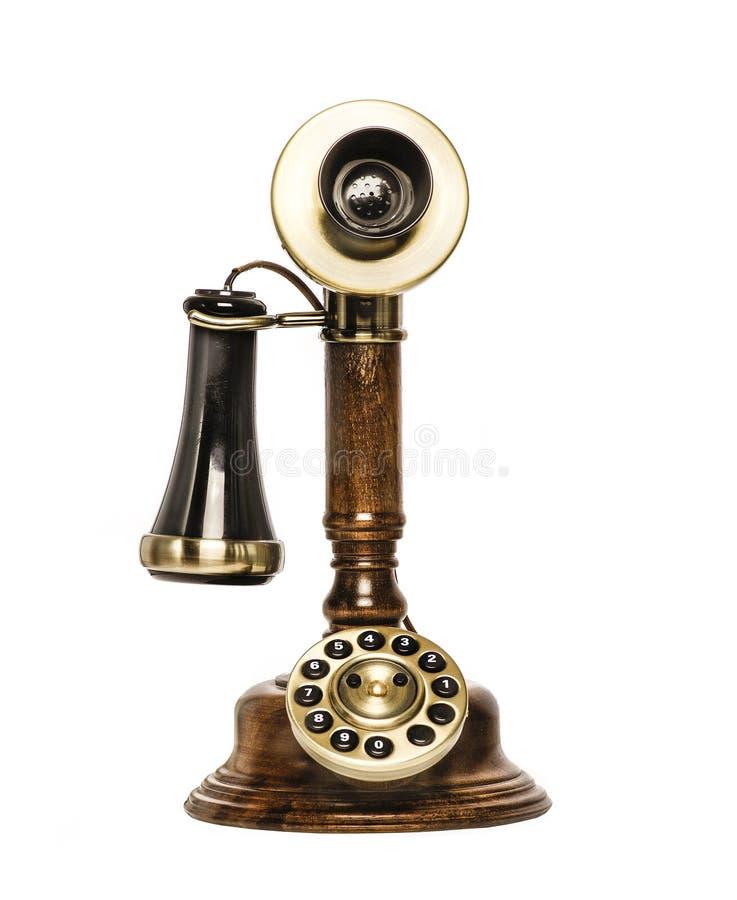 Retro vecchio telefono d'annata fotografia stock