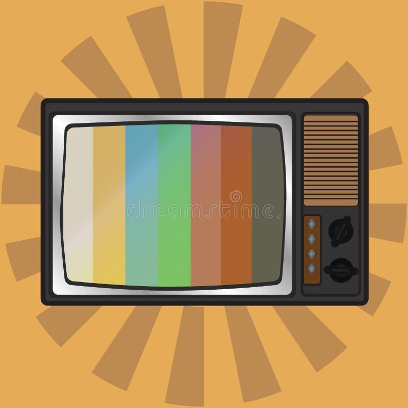 Retro Vector de illustratiepictogram van TV stock illustratie
