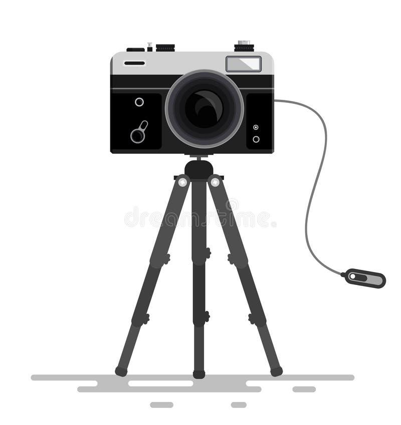 Download Retro Vector Photo Camera stock illustration. Image of cable - 85839858
