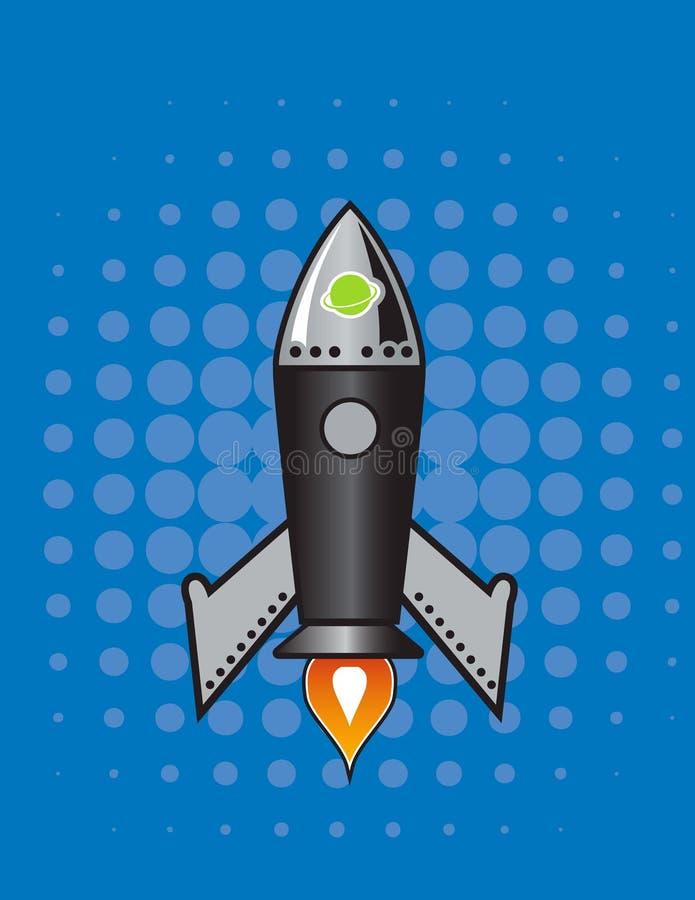 Download Retro Vector rocket. stock illustration. Illustration of background - 10804176