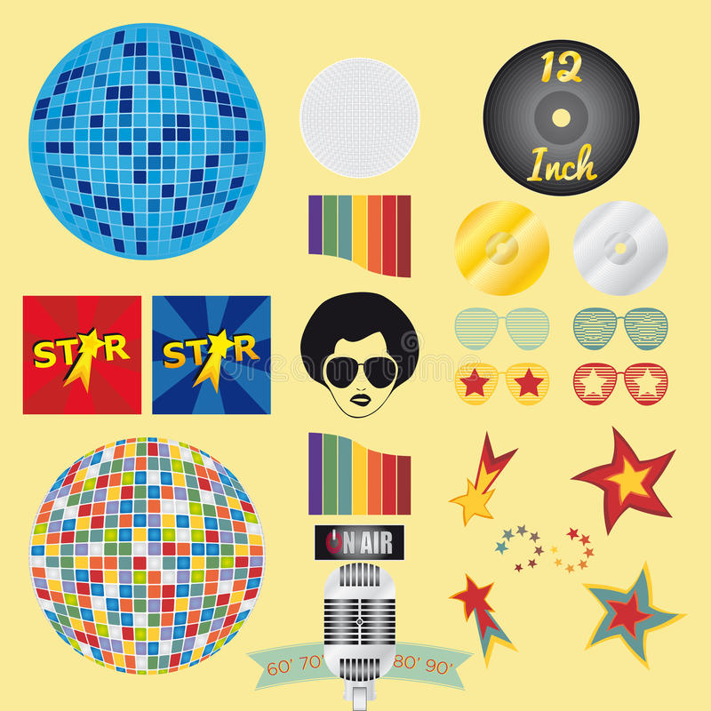 Download RETRO Vector Style stock vector. Image of plates, trendy - 30980251