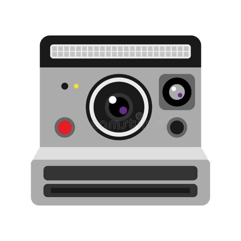 Retro vectorillustratie van de fotocamera stock illustratie