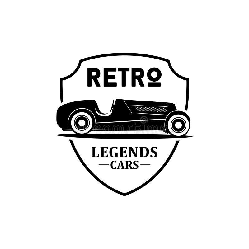 Retro vektor för legendbillogo stock illustrationer