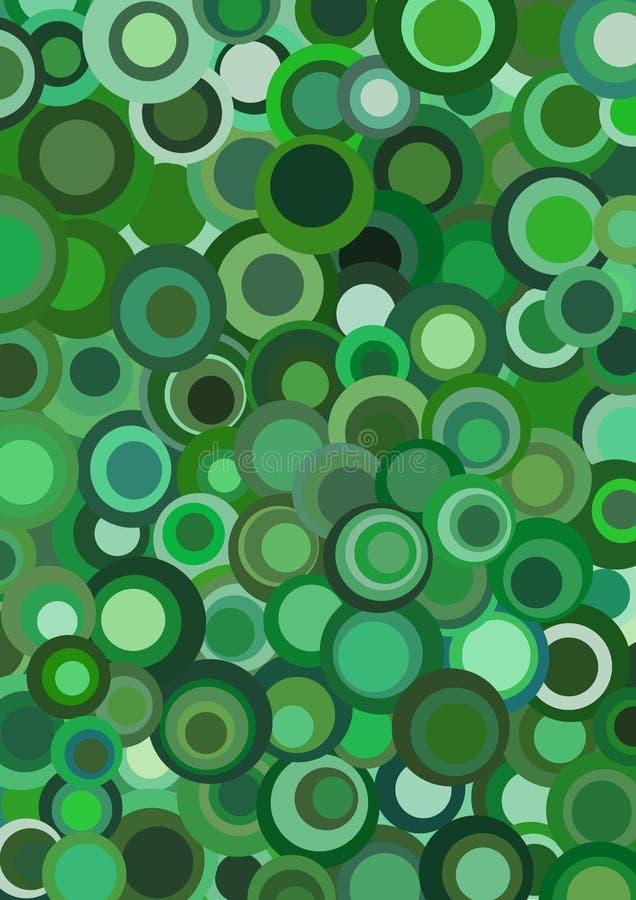 Retro verde Funky illustrazione di stock