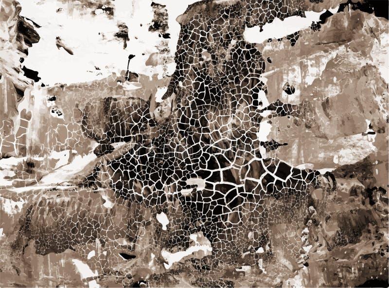 Retro Verontruste Textuur Grunge de Vector Achtergrond van Art Style Editable Vintage Style De grote Achtergrond van het Ontwerpe stock illustratie