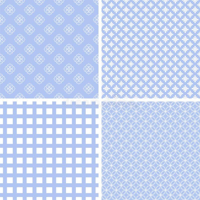 Retro verschillende zachte naadloze patronen vector illustratie