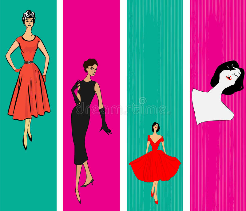 Download Retro Vertical Web Banner Templates Stock Vector - Illustration of fashion, gorgeous: 24884529