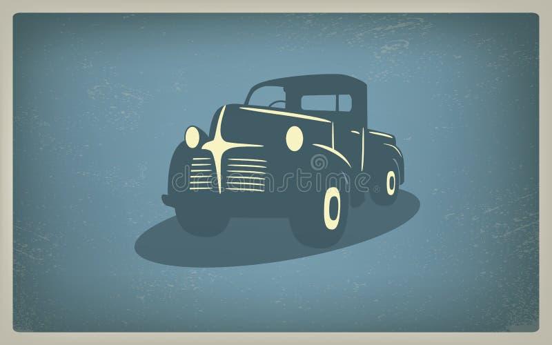Retro vettore d'annata dell'automobile del camioncino illustrazione di stock