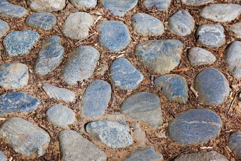 Retro via del cobblestone fotografie stock