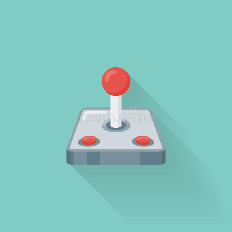 Retro video game controller flat style icon. Joystick or gamepad vector illustration vector illustration