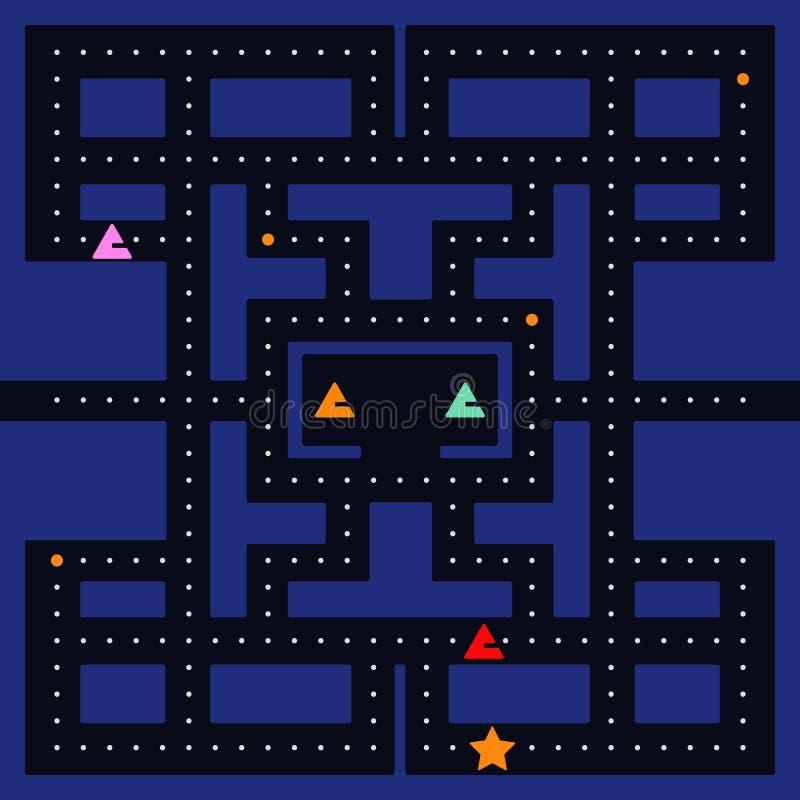 Retro video game square vector illustration