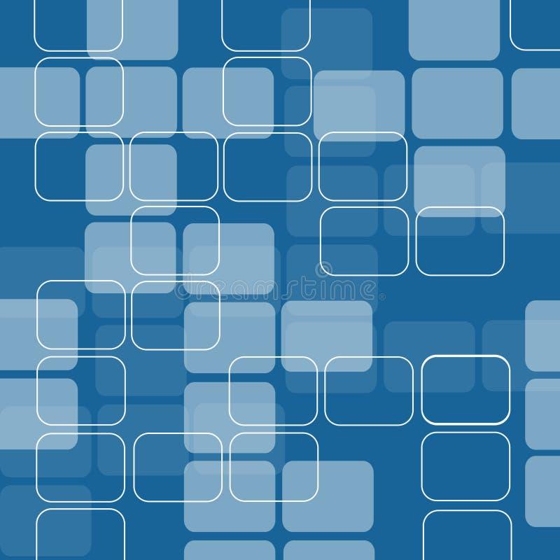 Retro vierkanten royalty-vrije illustratie