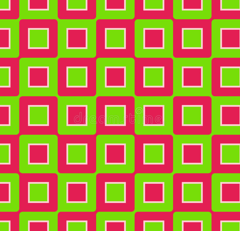 Retro Vierkanten stock illustratie
