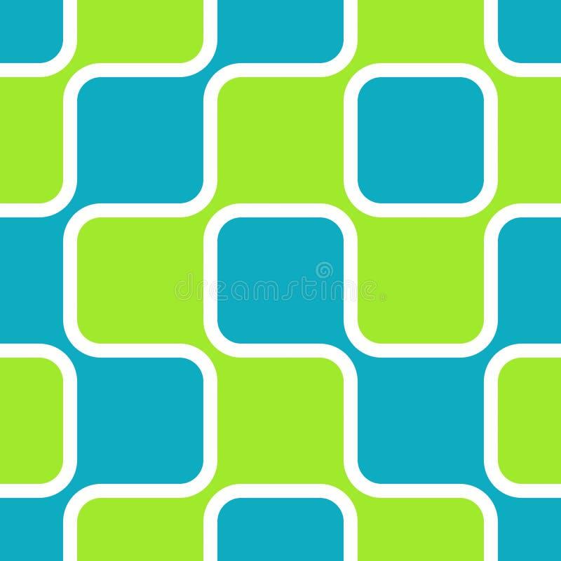 Retro Vierkanten vector illustratie