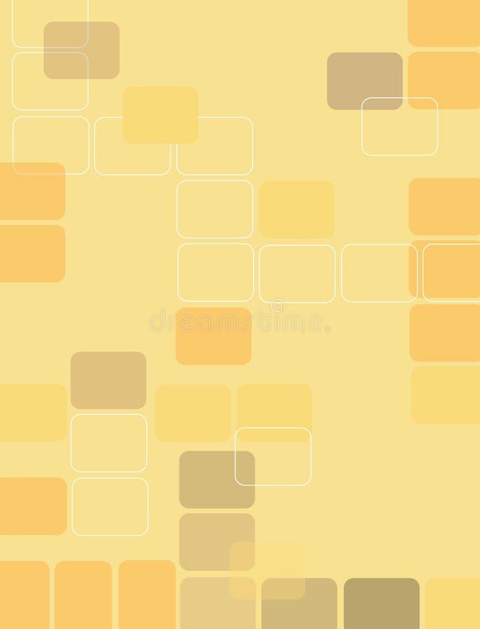 Retro vierkanten 3 royalty-vrije illustratie