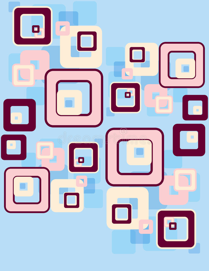 retro vierkantenpatroon royalty-vrije illustratie