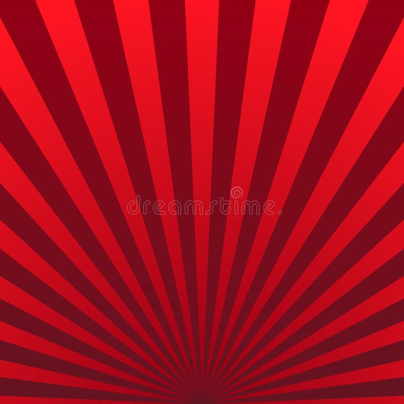 Retro vintage background of the shining sun rays. Vector royalty free illustration