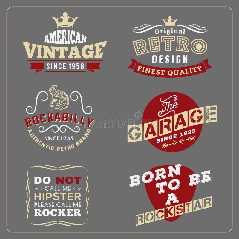 Retro vintage badge design for poster, T-shirt screen vector illustration