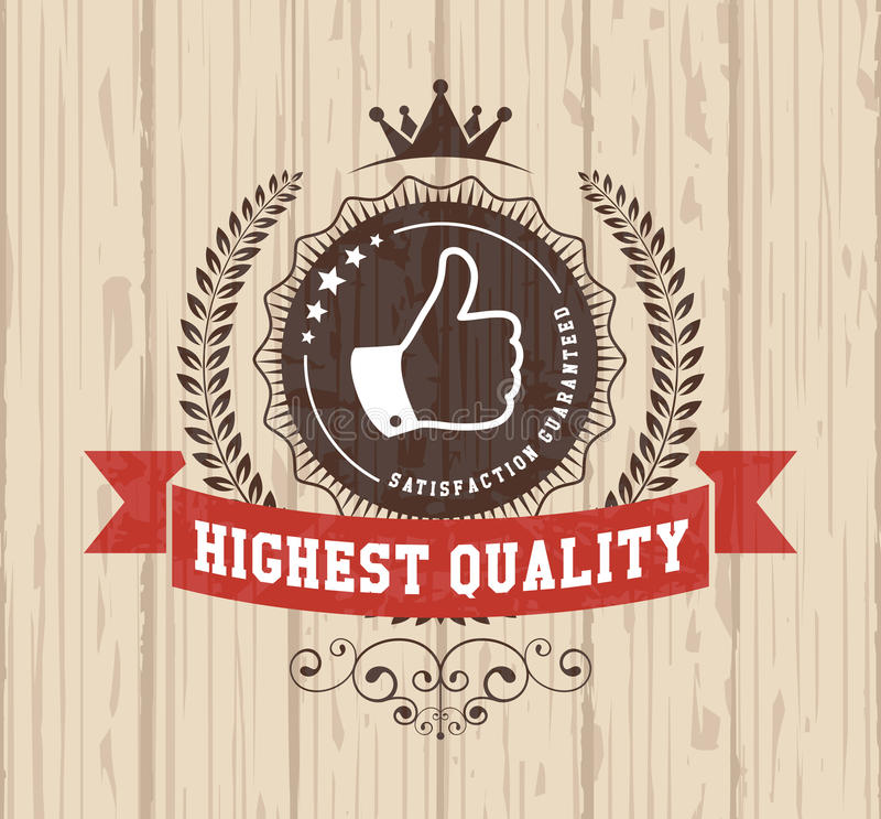 Retro vintage badge royalty free illustration