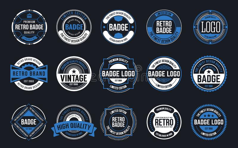 15 Retro Vintage Badges Design Collection. Vector illustration vector illustration