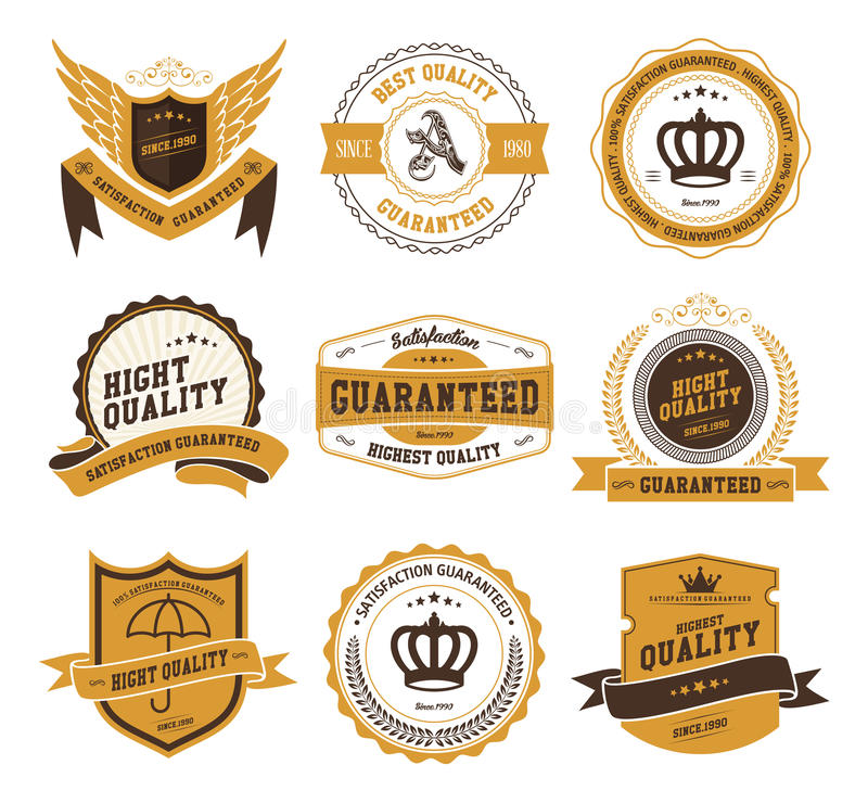 Retro Vintage Badges and Labels royalty free illustration