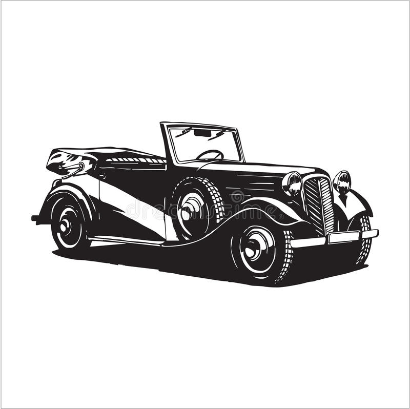 Retro vintage car stock illustration