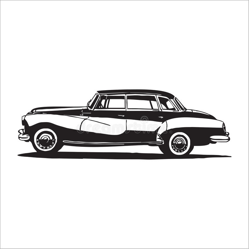 Retro vintage car. Retro car. Vintage car. classic car vector illustration