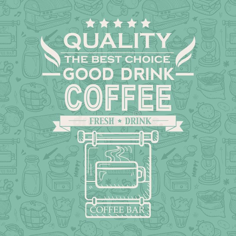 Retro Vintage Coffee Background With Typography Stock Photo