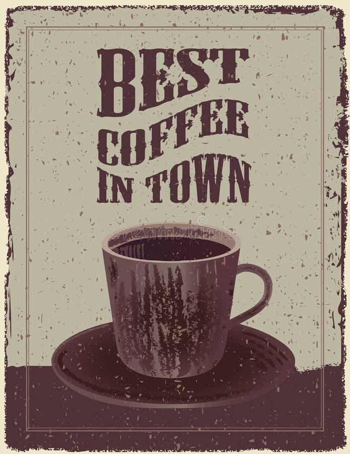 Coffee Posters Retro ~ Retro vintage coffee poster stock vector illustration of