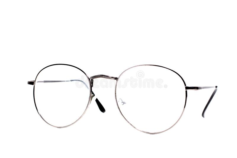 Retro vintage fashion glasses isolated on white background.  royalty free stock photo