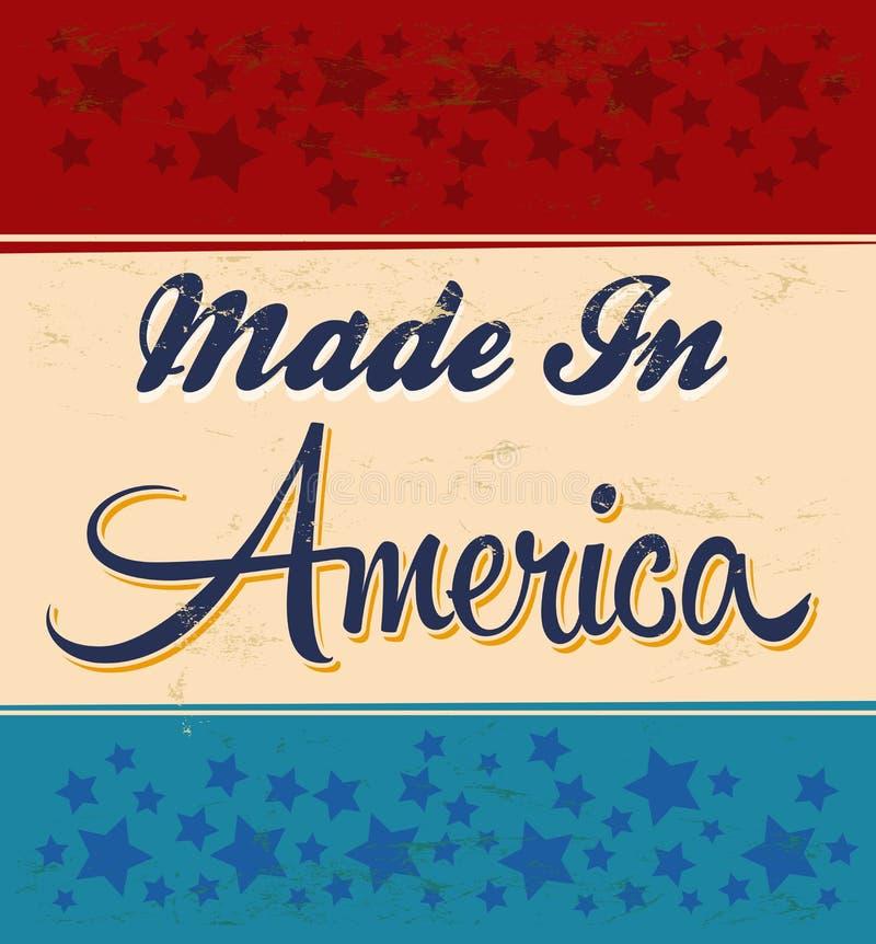 Retro - vintage feito no sinal de América ilustração royalty free