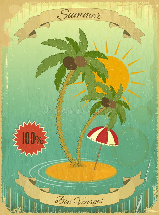 Download Retro Vintage Grunge Summer Vacation Postcard Stock Vector - Illustration: 28620536