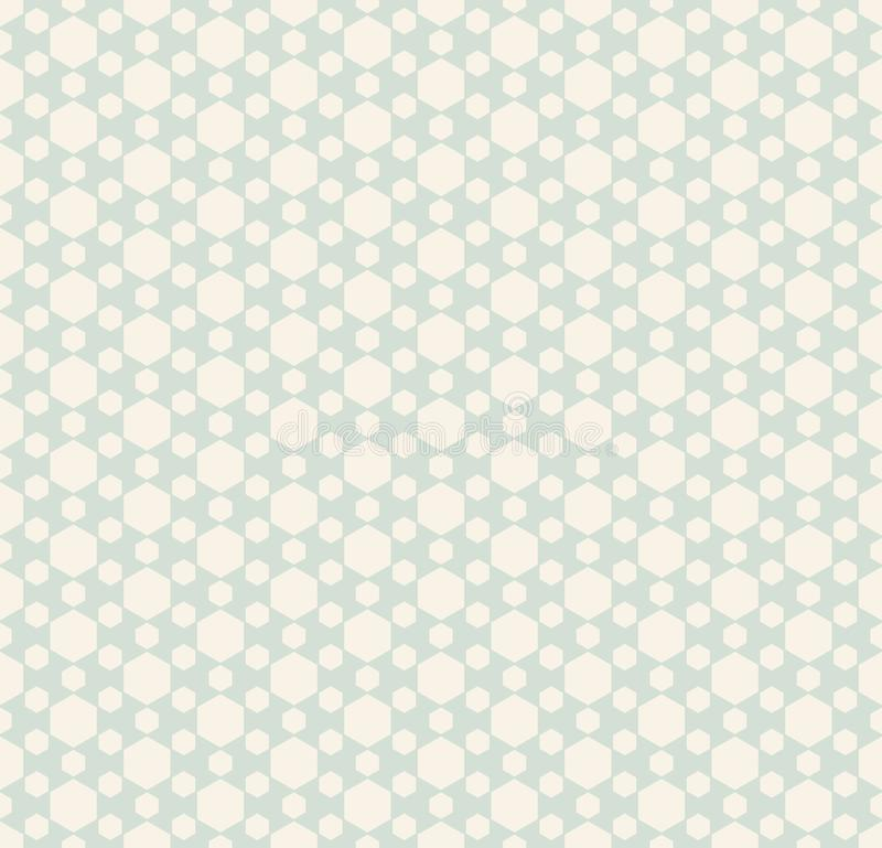 Retro vintage hexagonal seamless pattern. Vector decorative design royalty free illustration