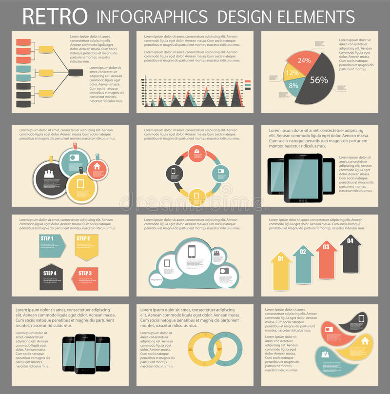 Retro Vintage Infographic Template Business Vector Stock ...